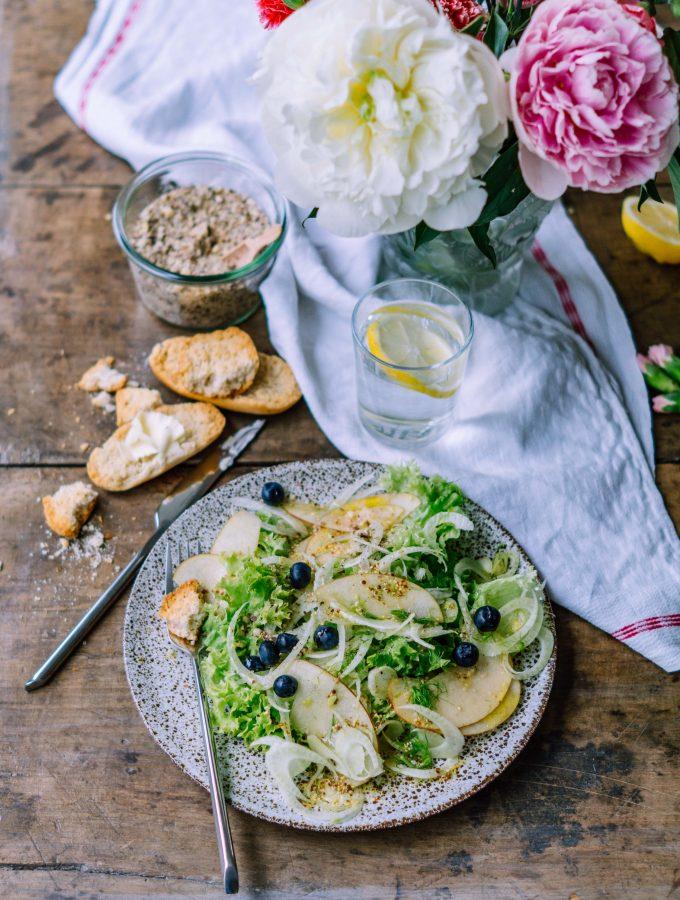 Sommerlicher Fenchel Apfel Salat (vegan)