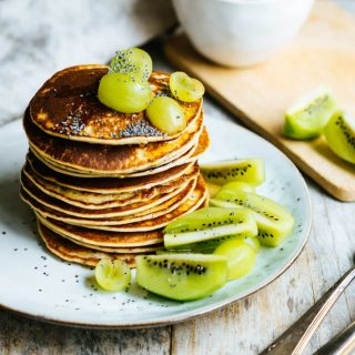 Orange Poppy Seed Pancakes (vegan)