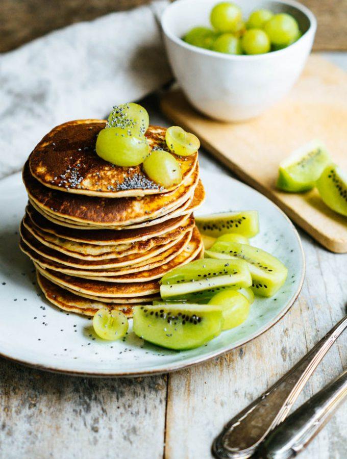 Orange Poppy Seed Pancakes (vegan)