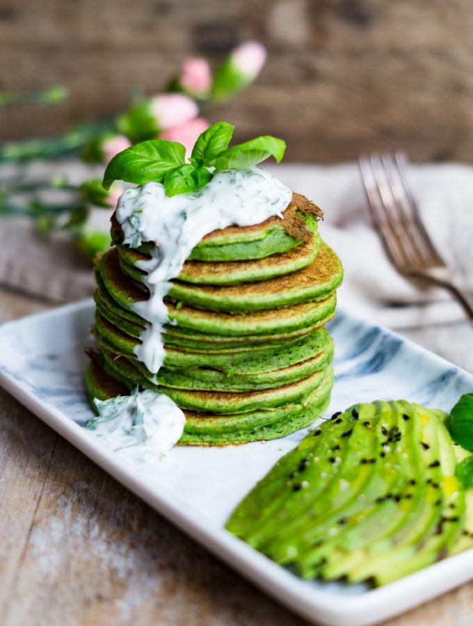 Easy vegan Savory Kale Pancakes