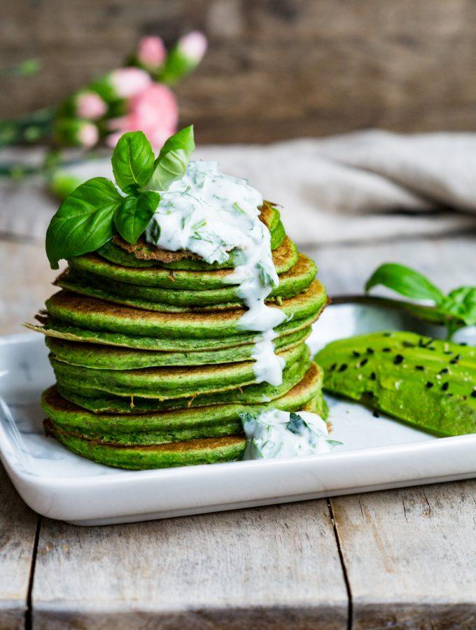 Pikante Grünkohl Pfannkuchen (vegan)