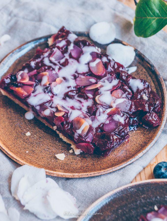 Kirsch Mandel Blechkuchen
