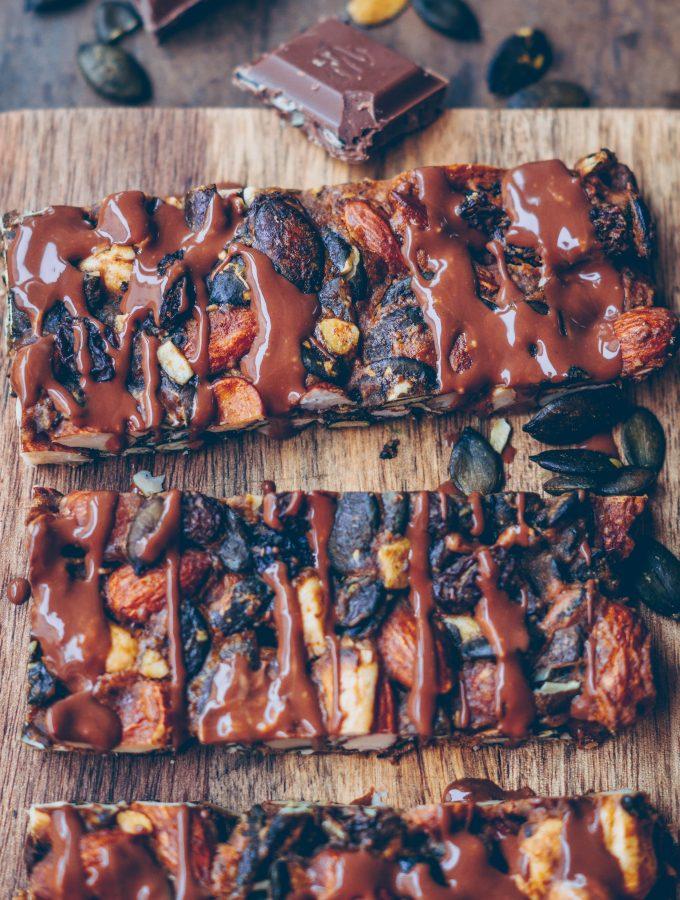 Gesunde Power Riegel zum Snacken