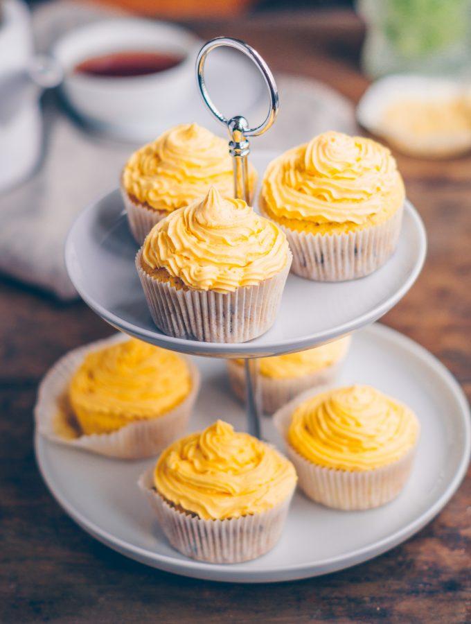 Osterbrunch: Kaffee Vanille Cupcakes mit Vanille Frosting