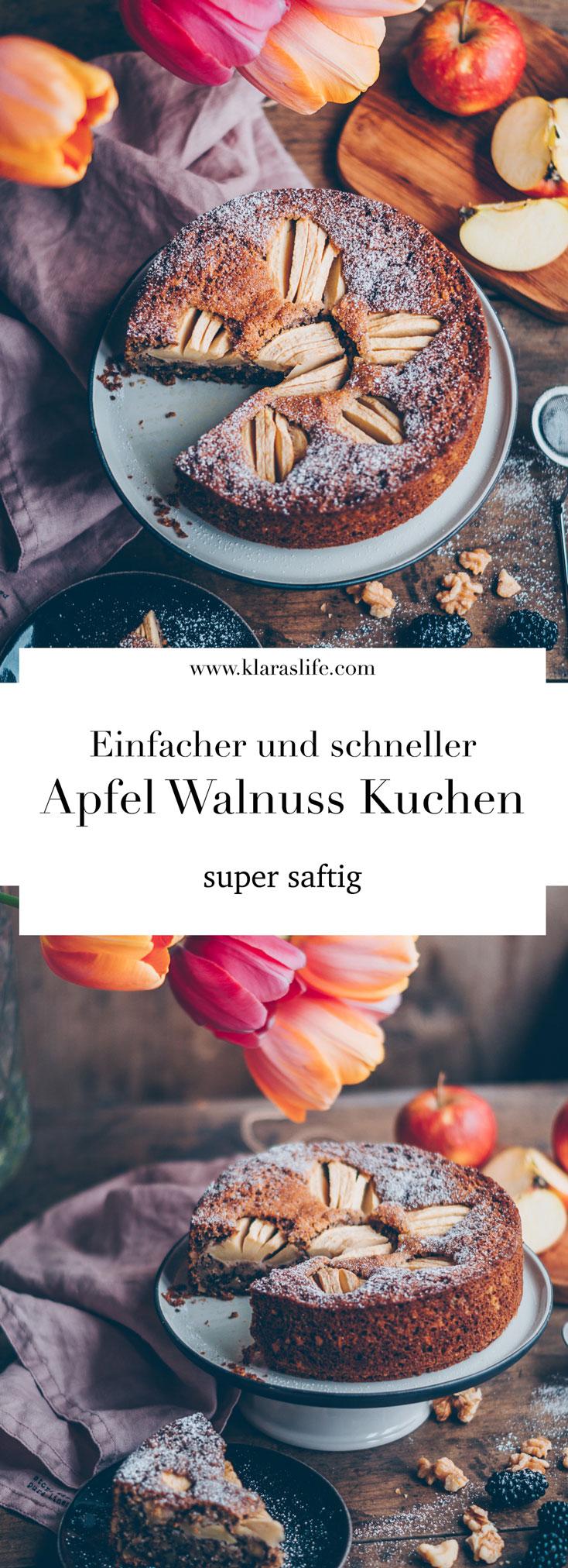 Einfacher Und Leckerer Apfel Walnuss Kuchen Klara S Life