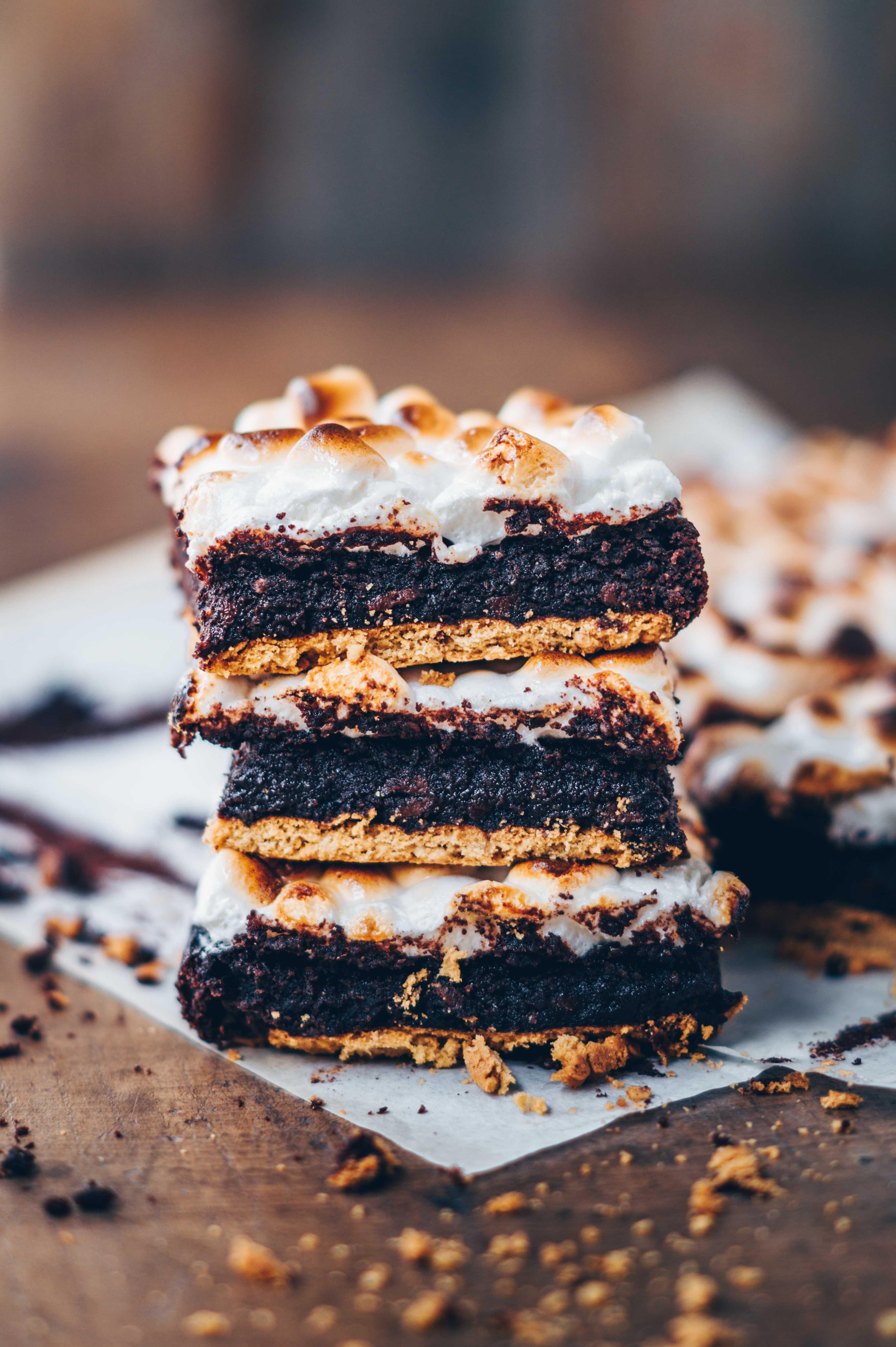 s´more chocolate brownies