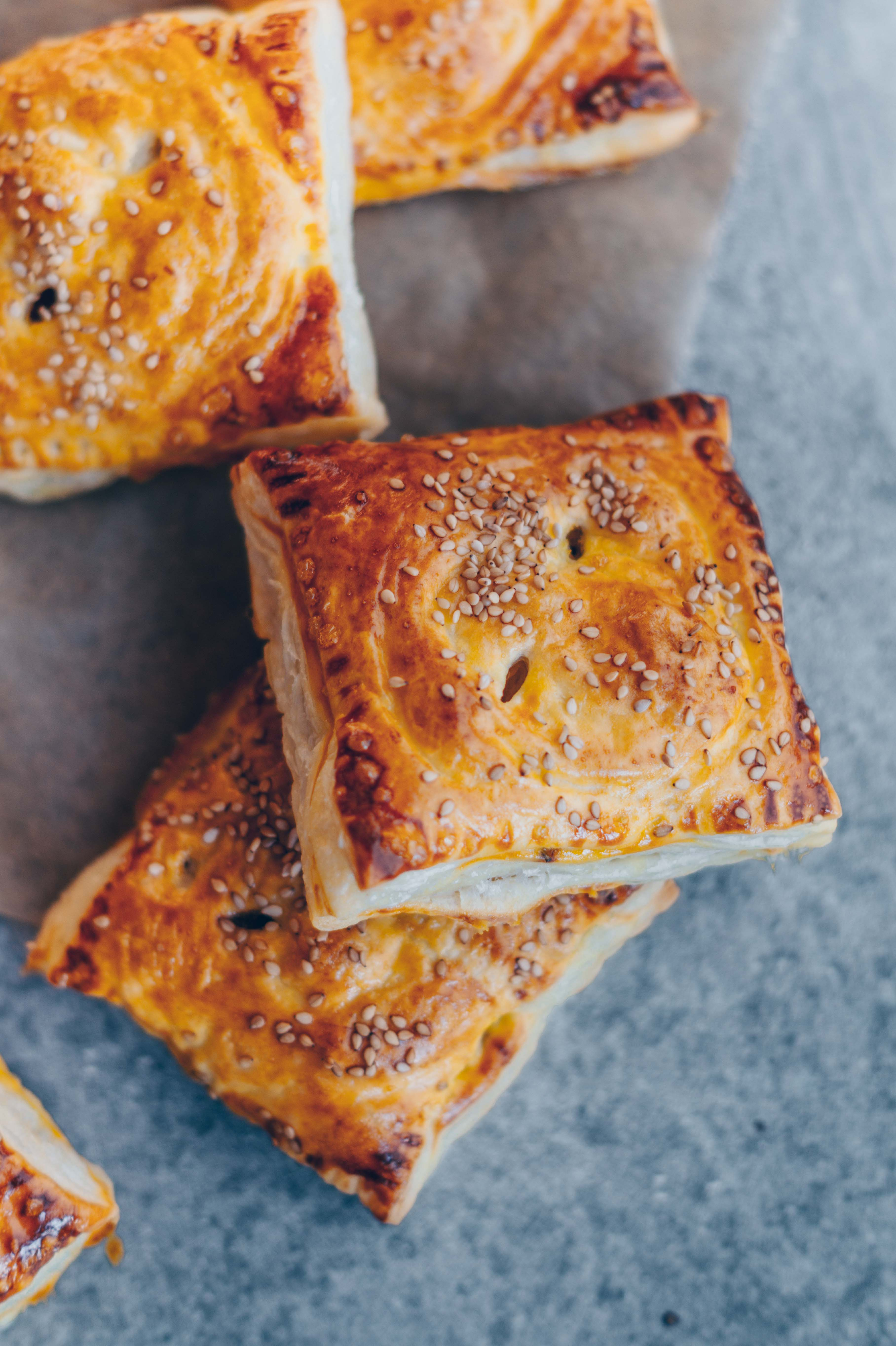 vegetable flaky pastries