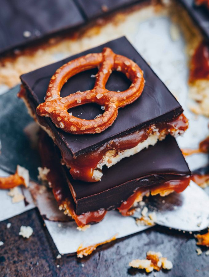 Schokoladen Salzkaramell Shortbreads