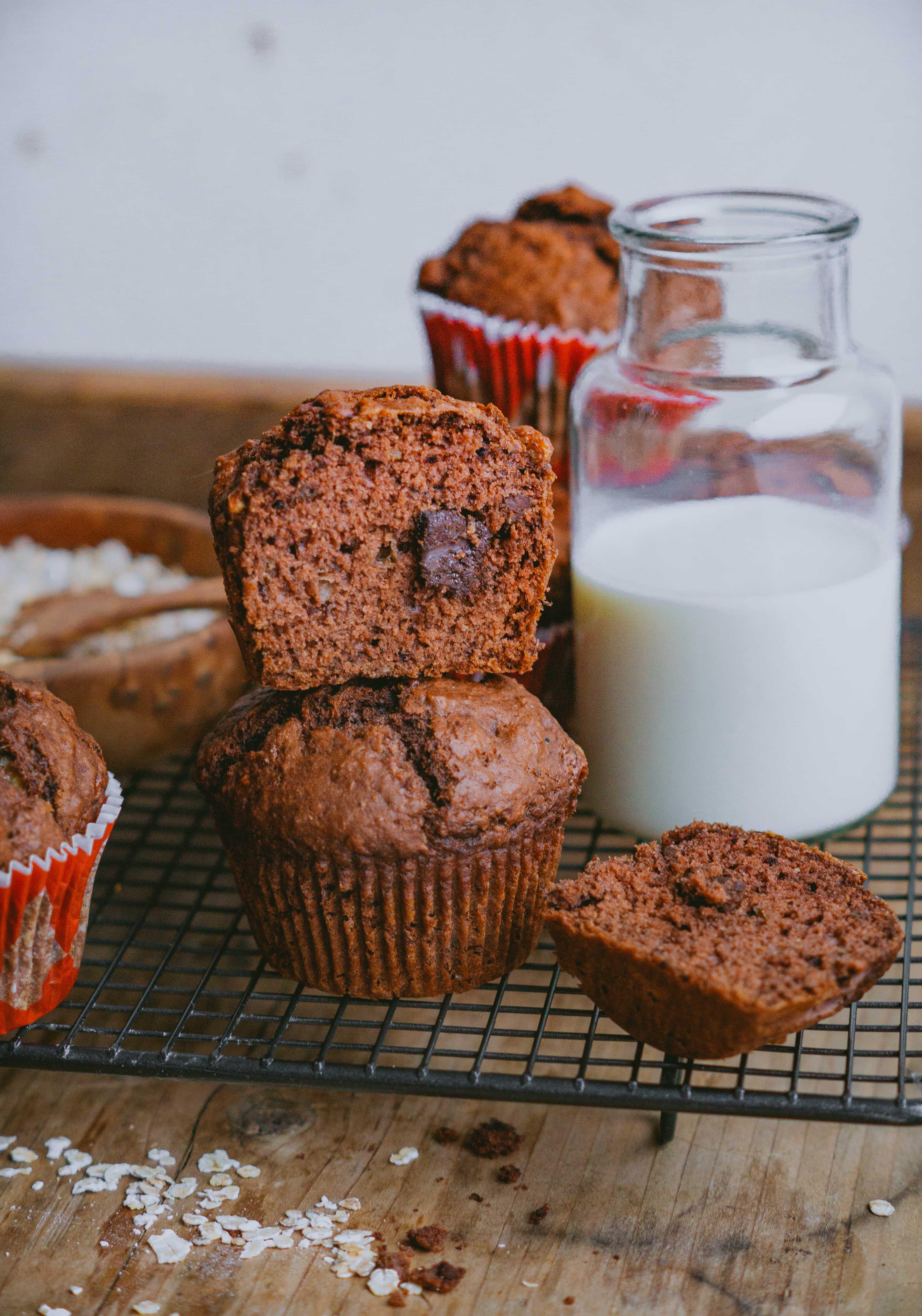 Vegane Schokoladen Bananen Muffins Klara S Life