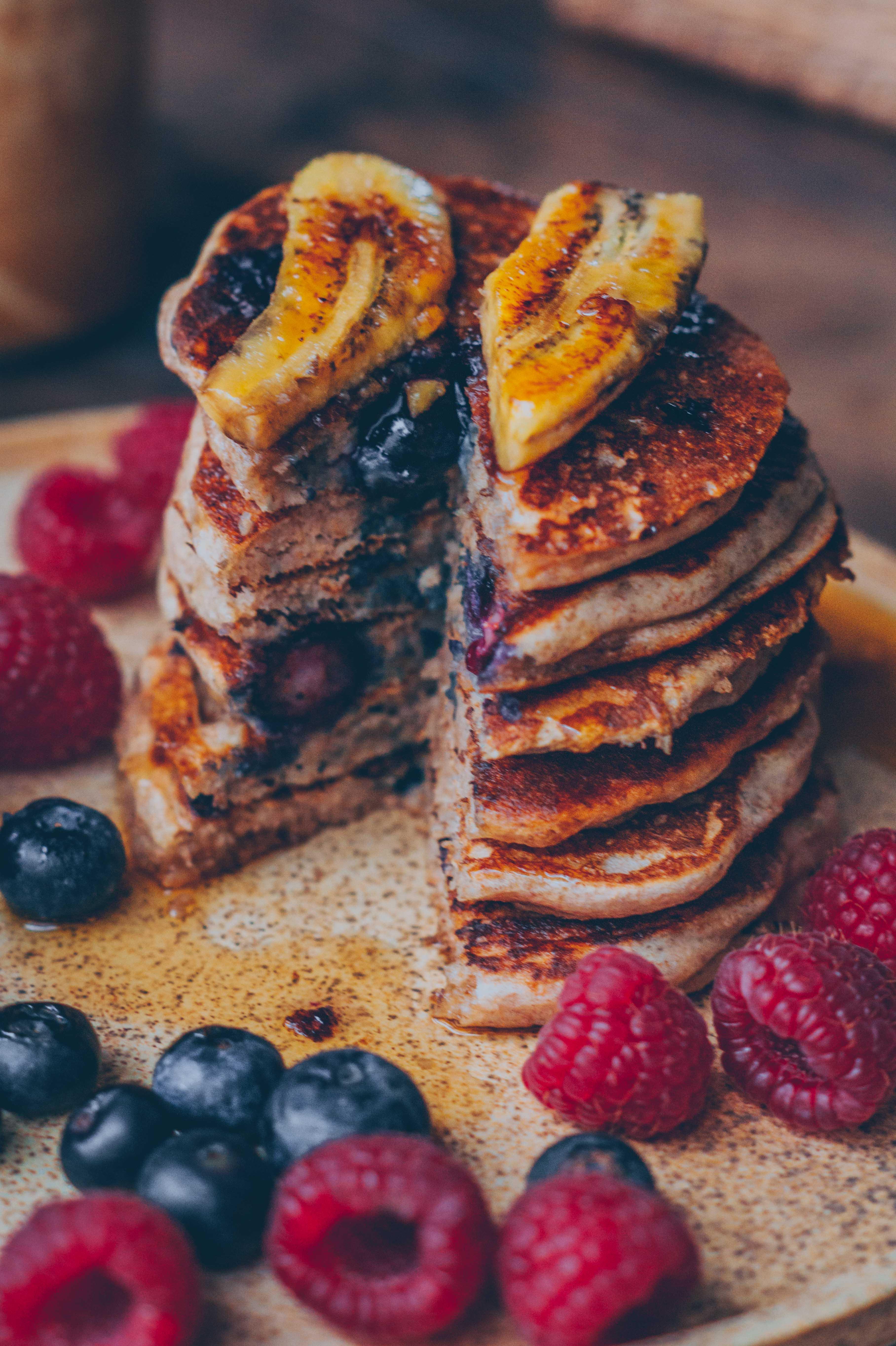 blaubeer Pfannkuchen