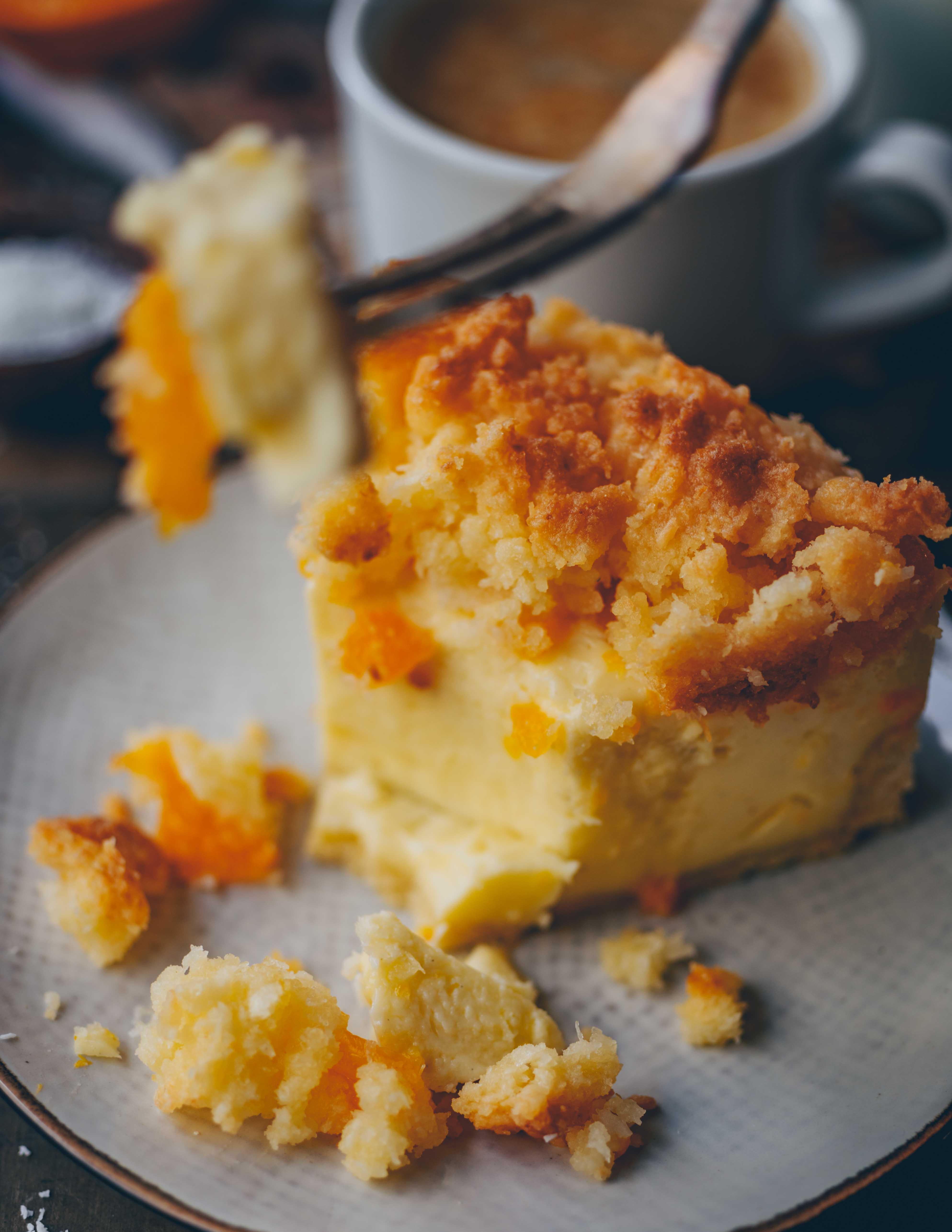 Veganer Mandarinen Schmand Kuchen Mit Kokosstreuseln Klara S Life