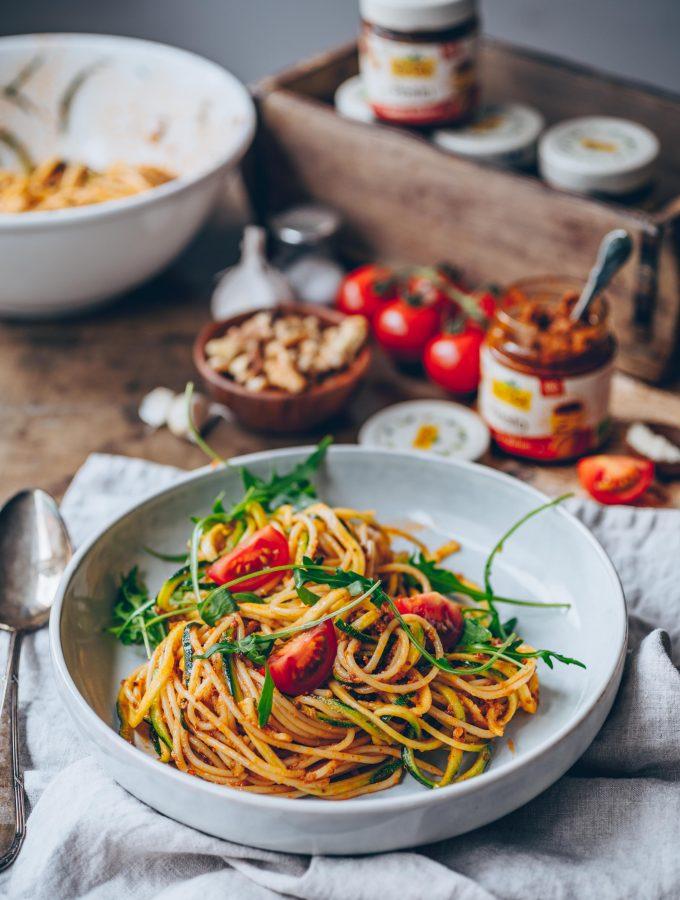 Leichte und leckere Rezepte mit Tartex Pesto Tomate Walnuss & Tartex Markt-Gemüse Tomate Olive (enthält Werbung)