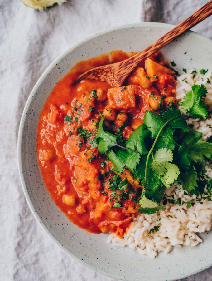 Chana Masala (würziges Kichererbsen-Curry)