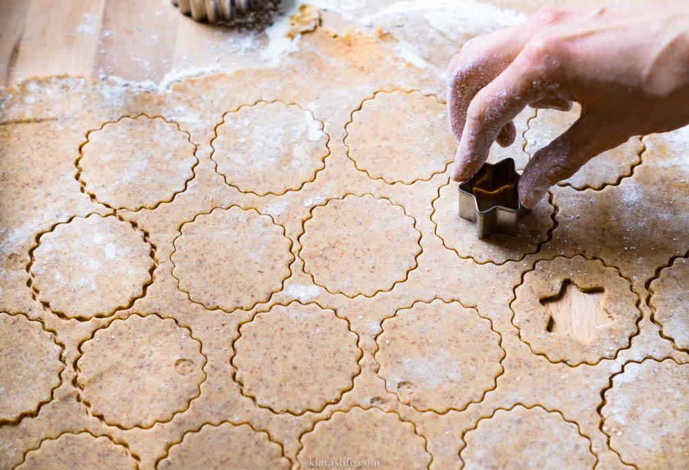 Linzer star pastry