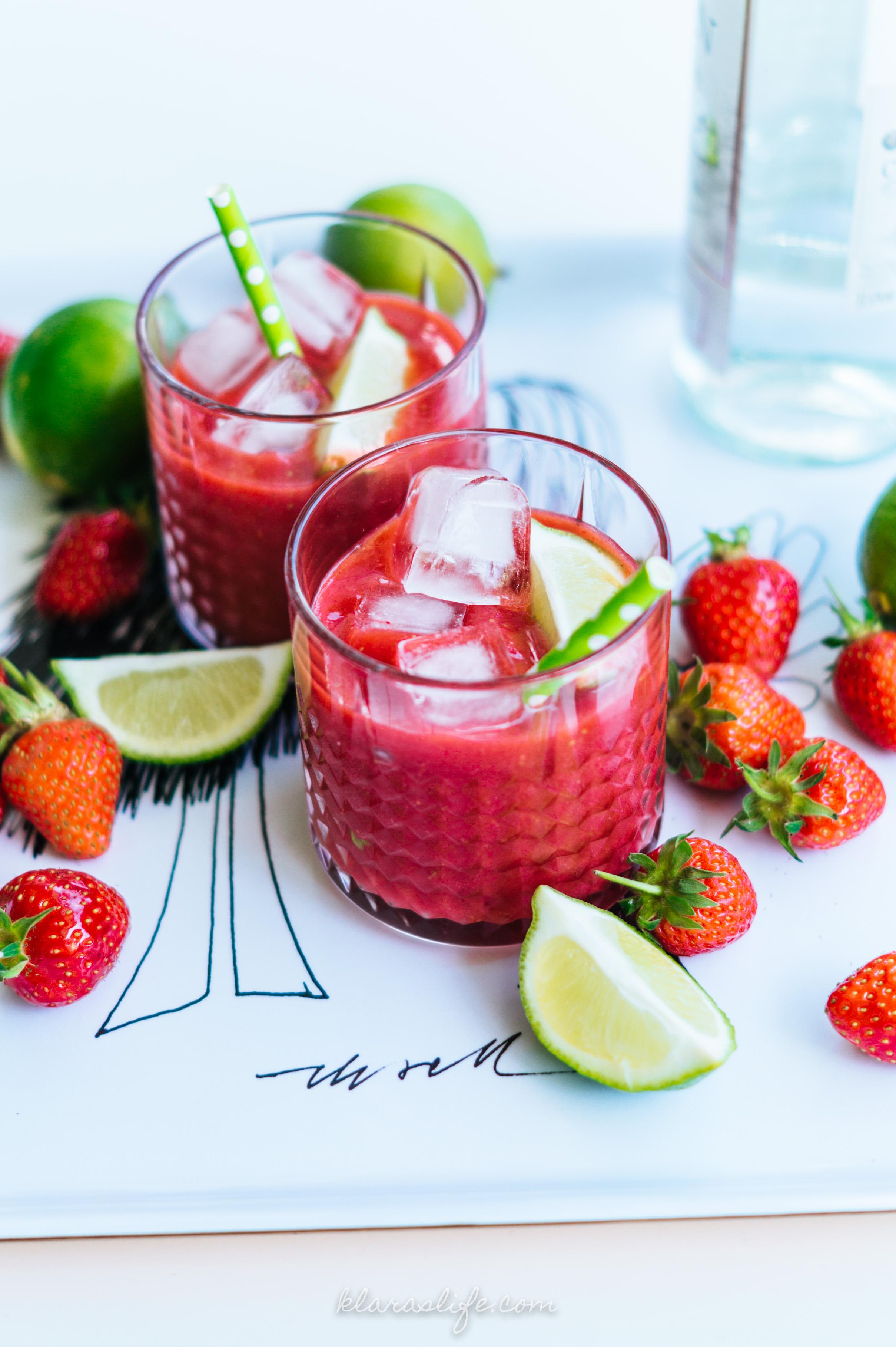 erdbeer wassermelonen slush