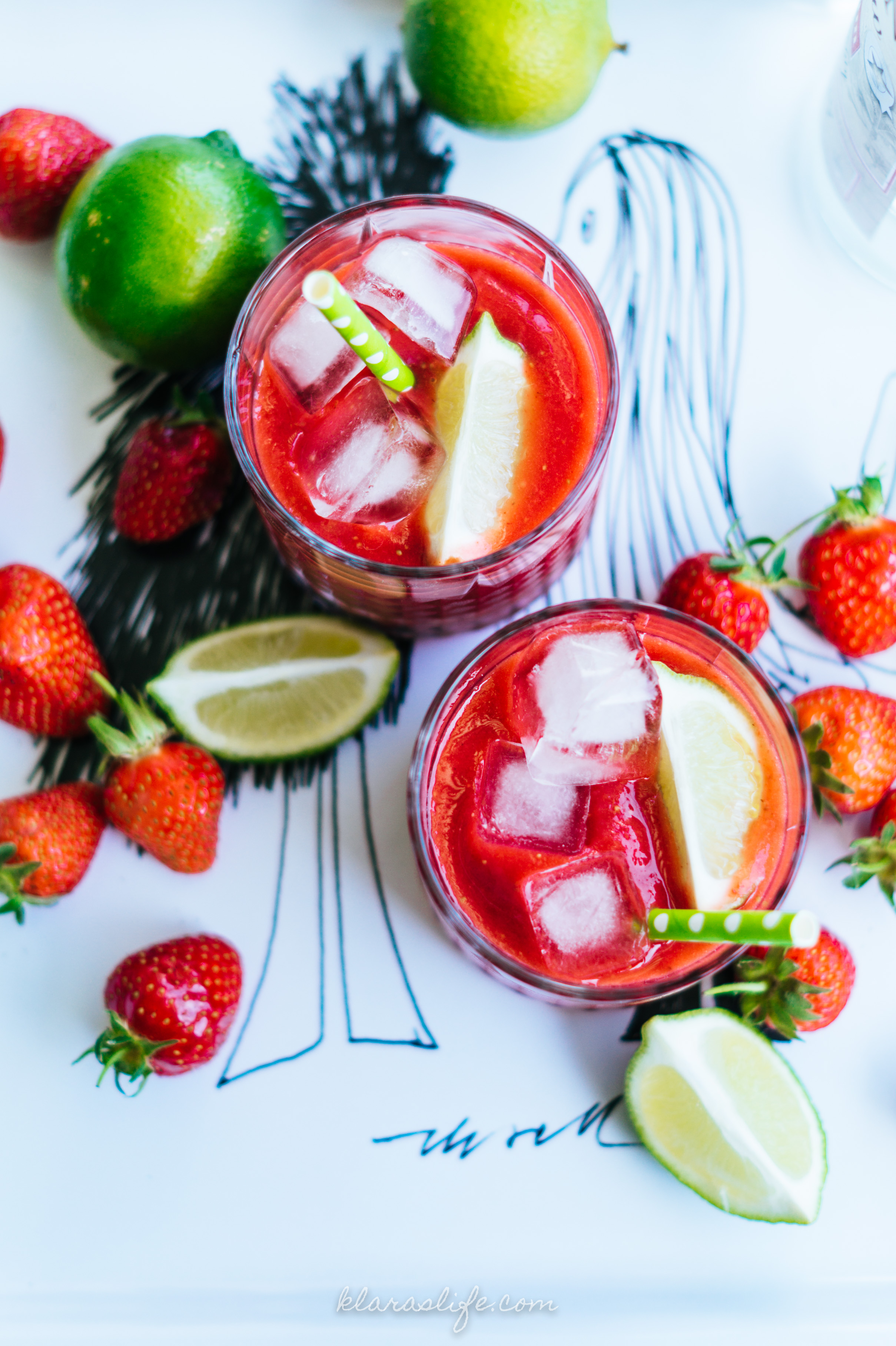 Strawberry Watermelon Slush With White Rum Klara S Life