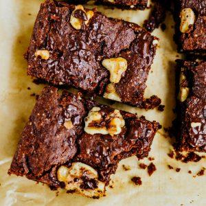 Schokoladen Haselnuss Brownies