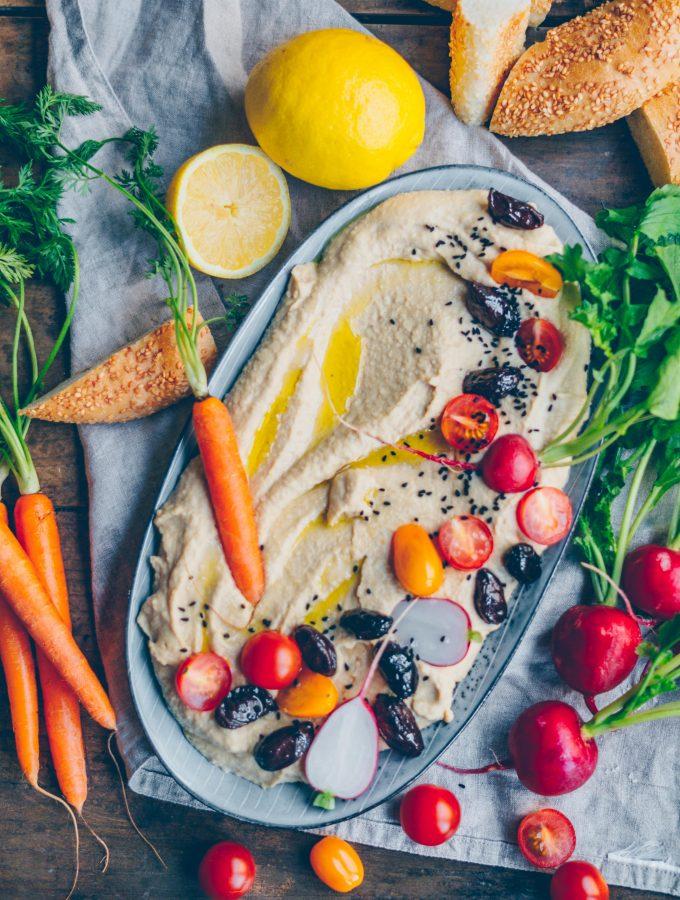 Hummus selber machen. Das Grundrezept.