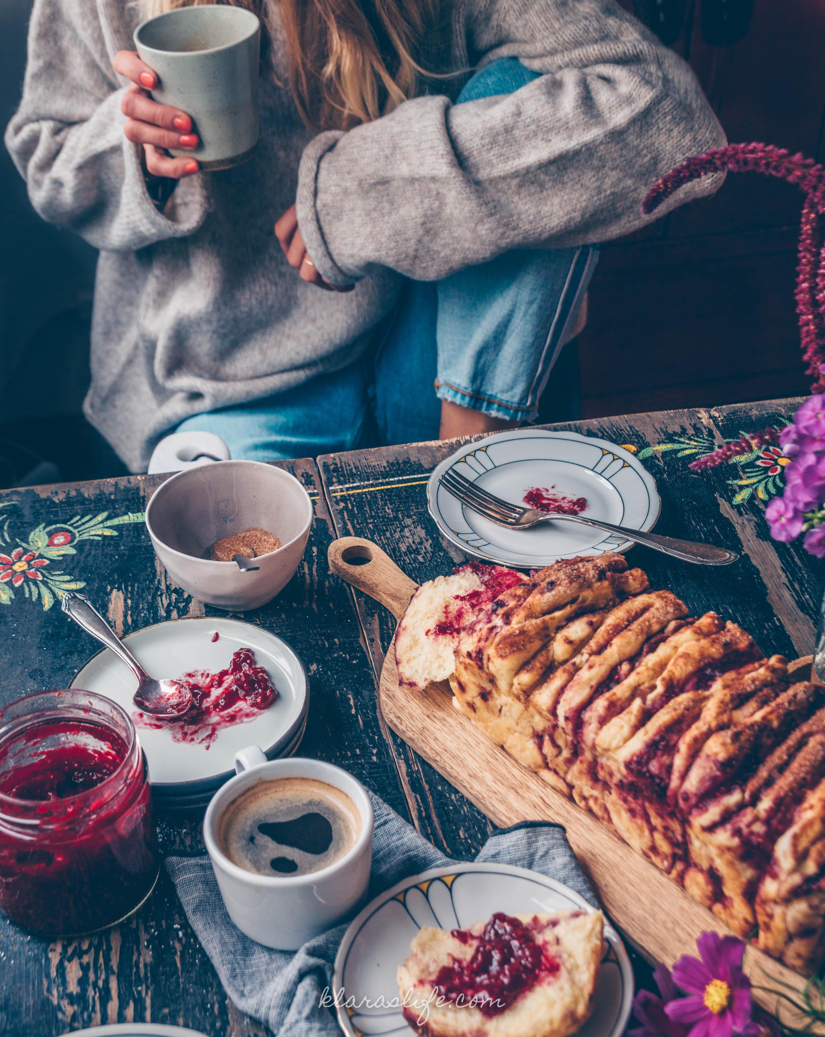 Himbeer Zupfkuchen