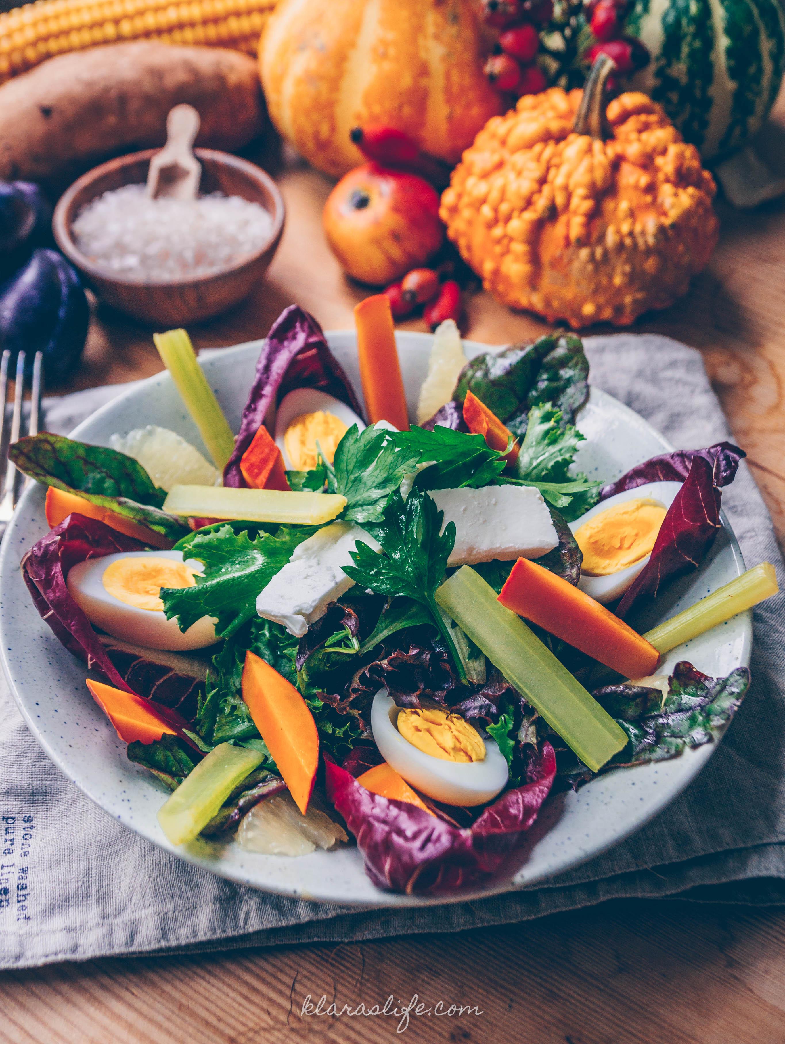 Sellerie und Kürbis Salat