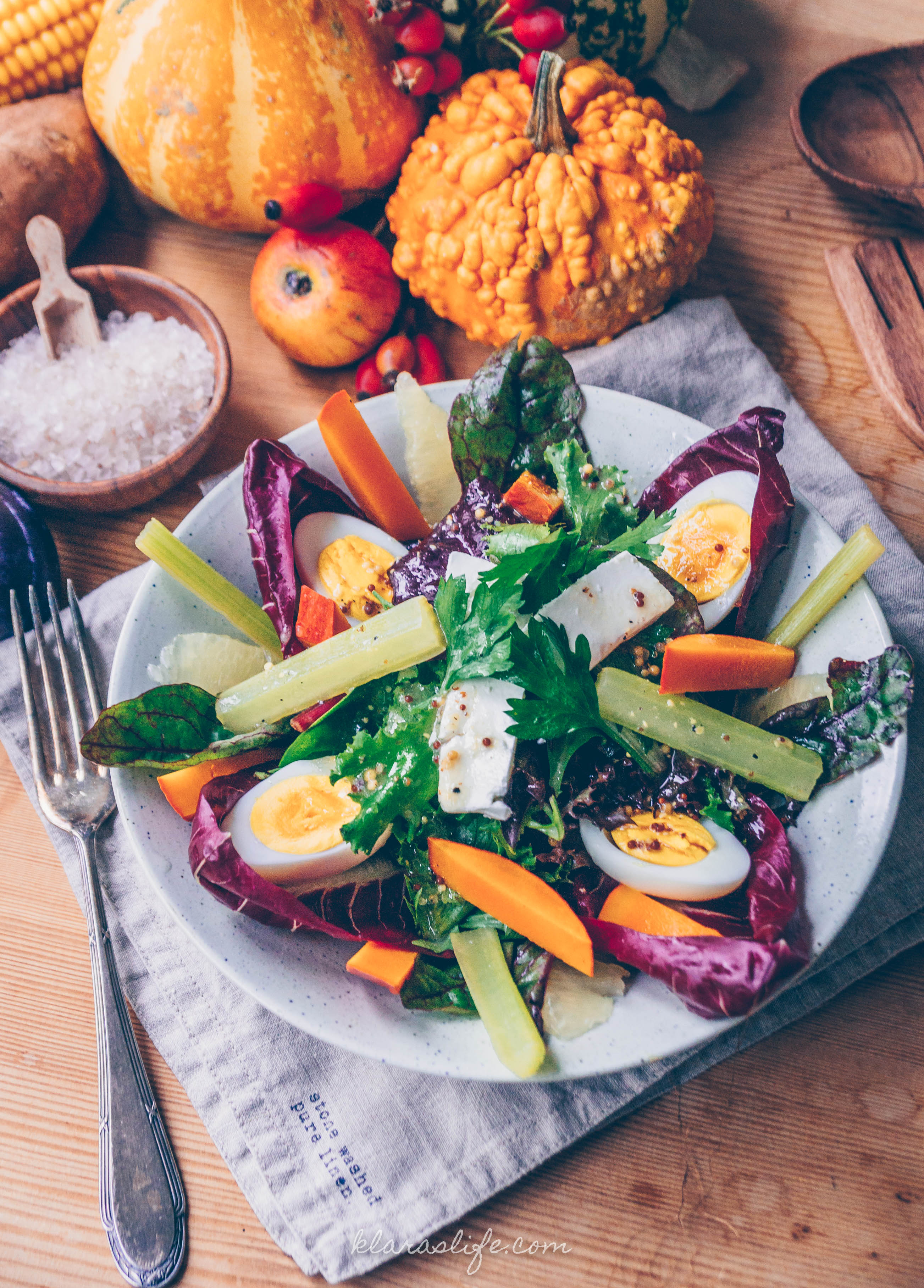 Celery and Pumpkin Salad
