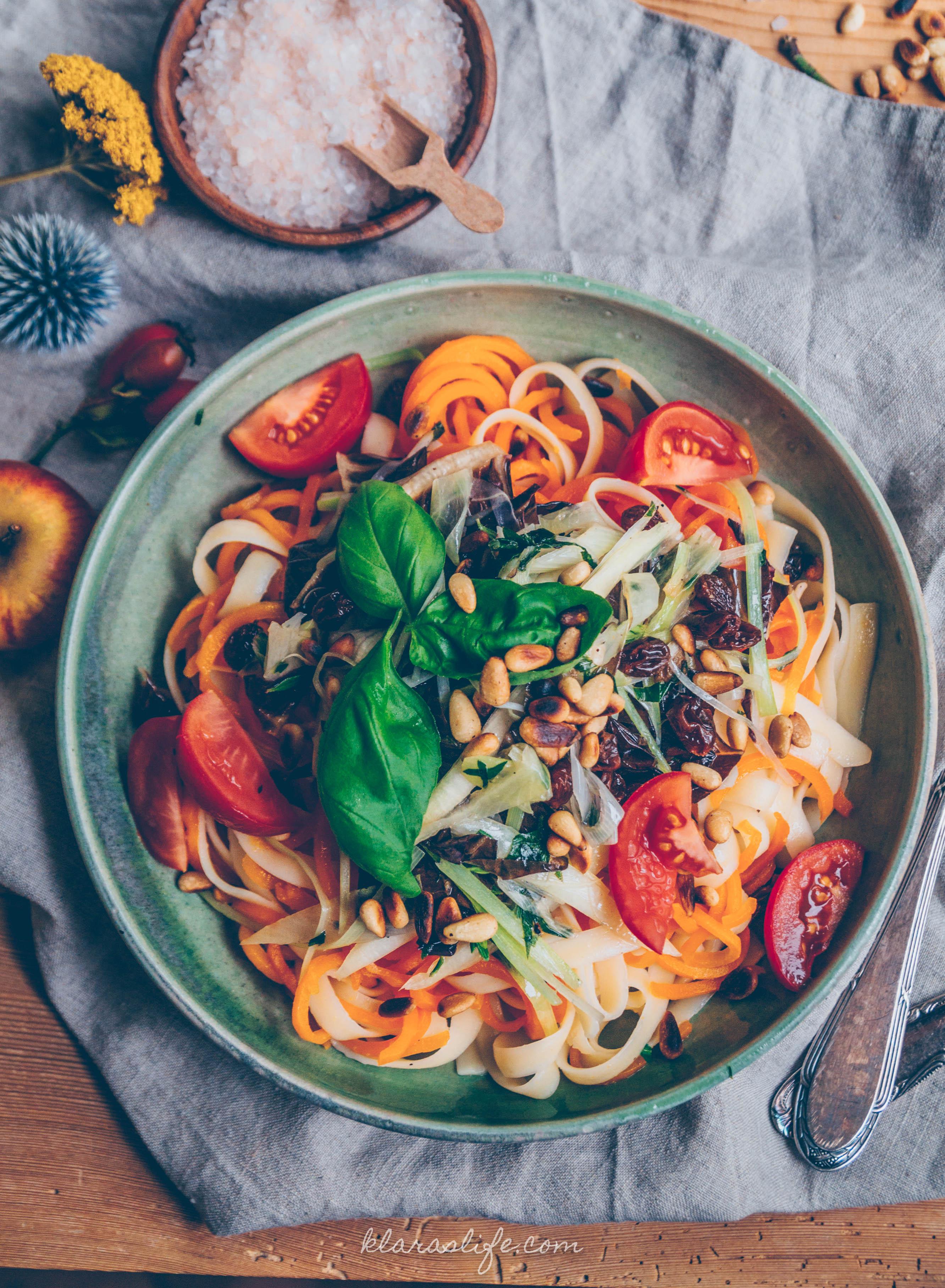 Karotten Linguine