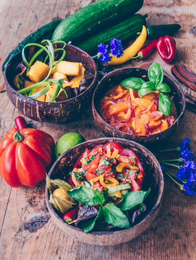 Spätsommer Gericht, Chutney- Golden fries und Salsa