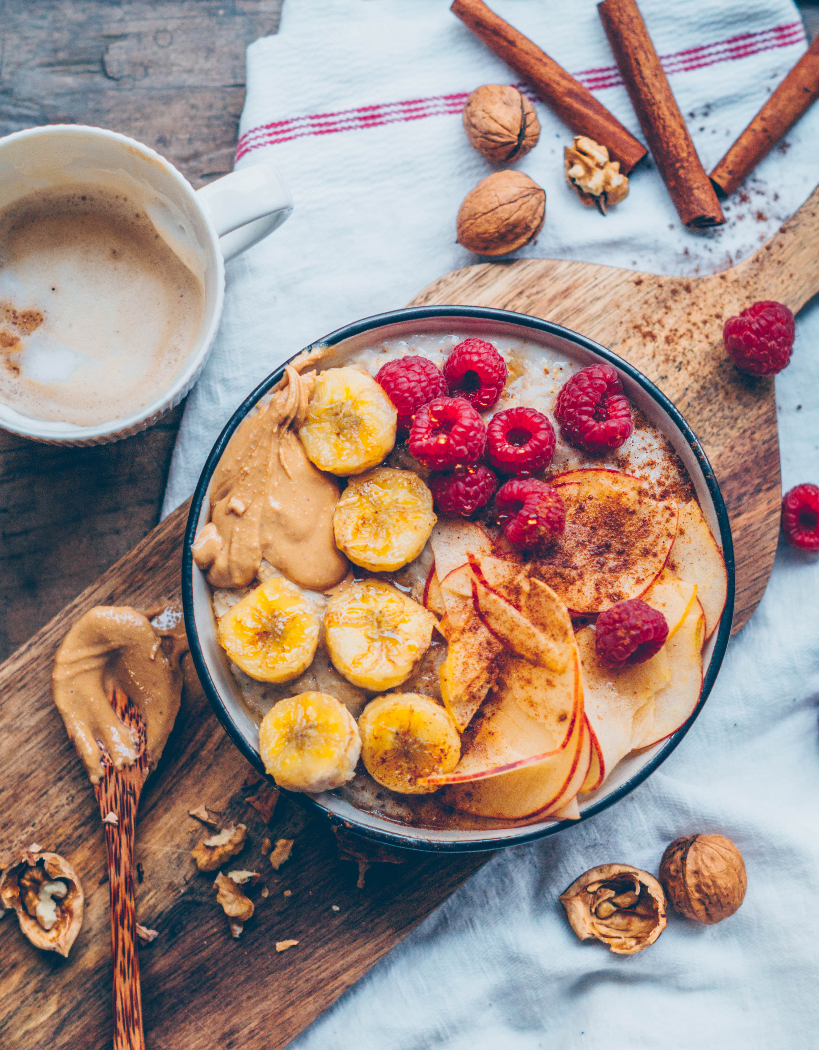 Bananen Zimt Porridge