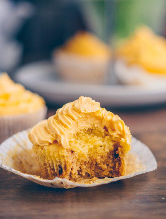Kaffee-Vanillecupcakes mit Vanillefrosting
