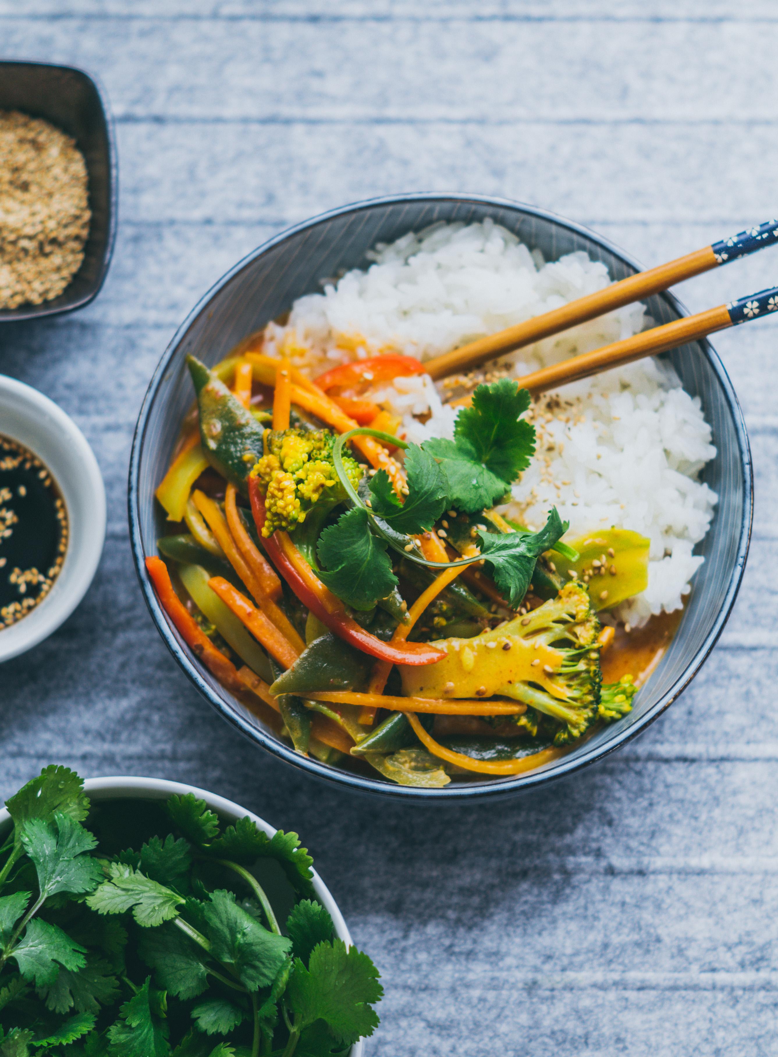 schnelles Kokosnuss curry