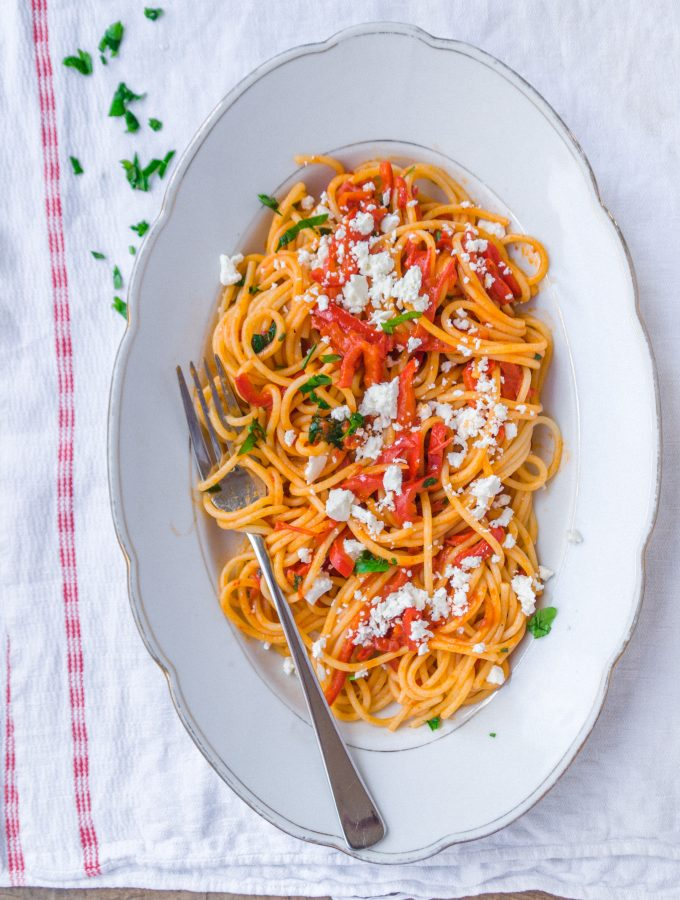 Fast Pasta Recipe with Capsicum