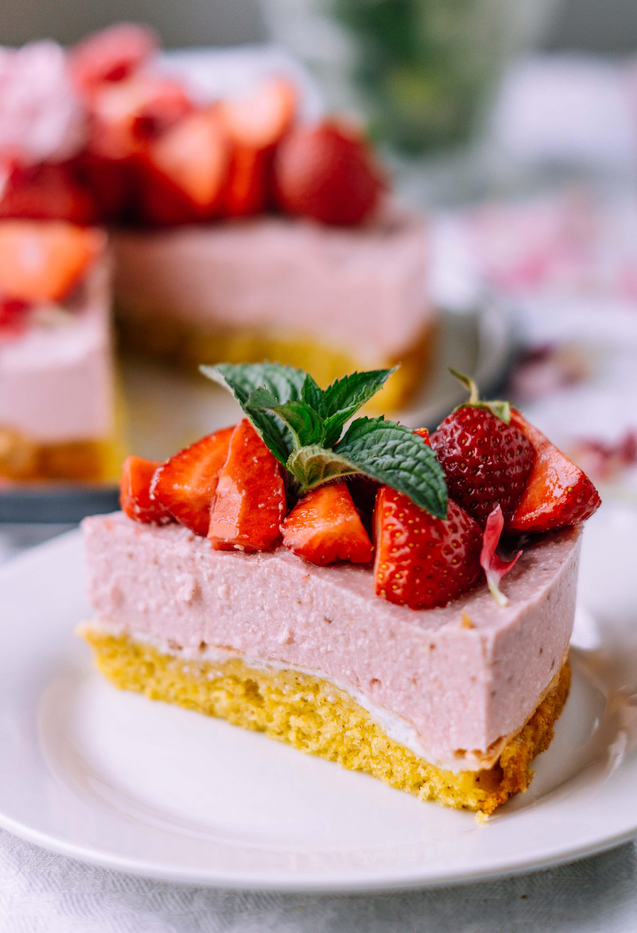 erdbeer baiser kuchen