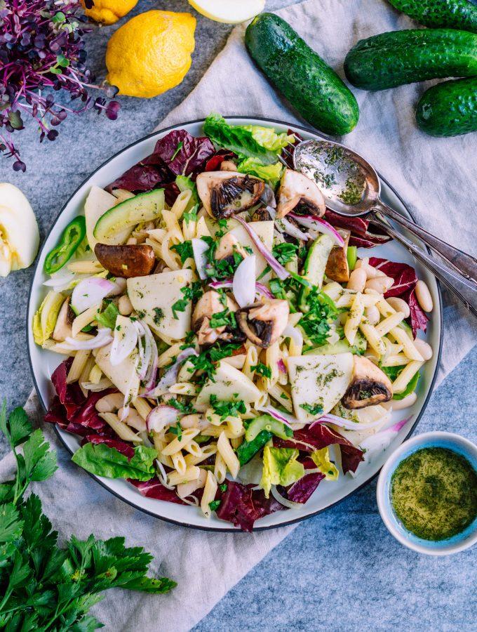 Kohlrabi, Kohlenhydrate und doch was Leichtes! Kohlrabi Nudel Salat