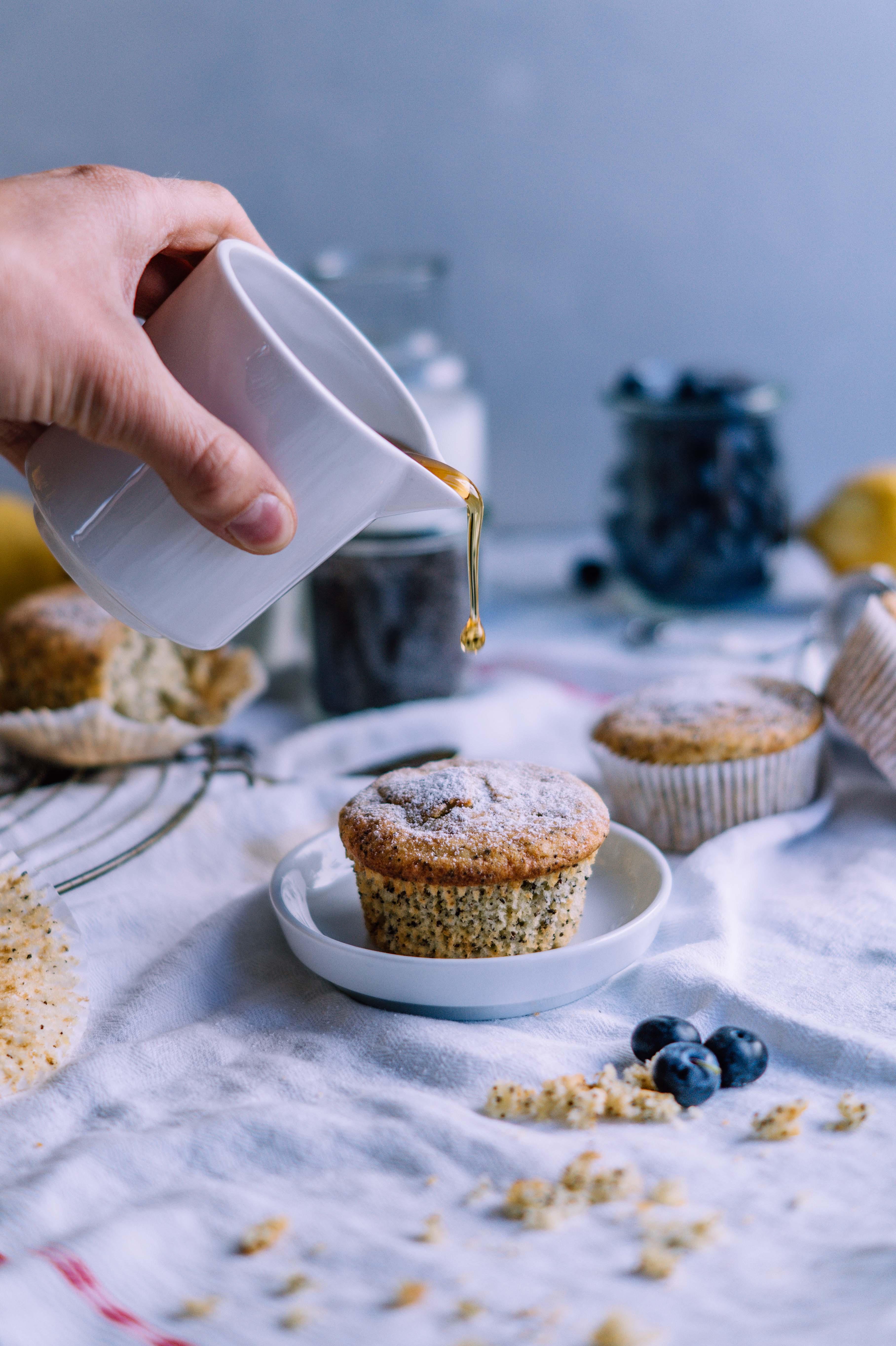 zitronen mohn muffins