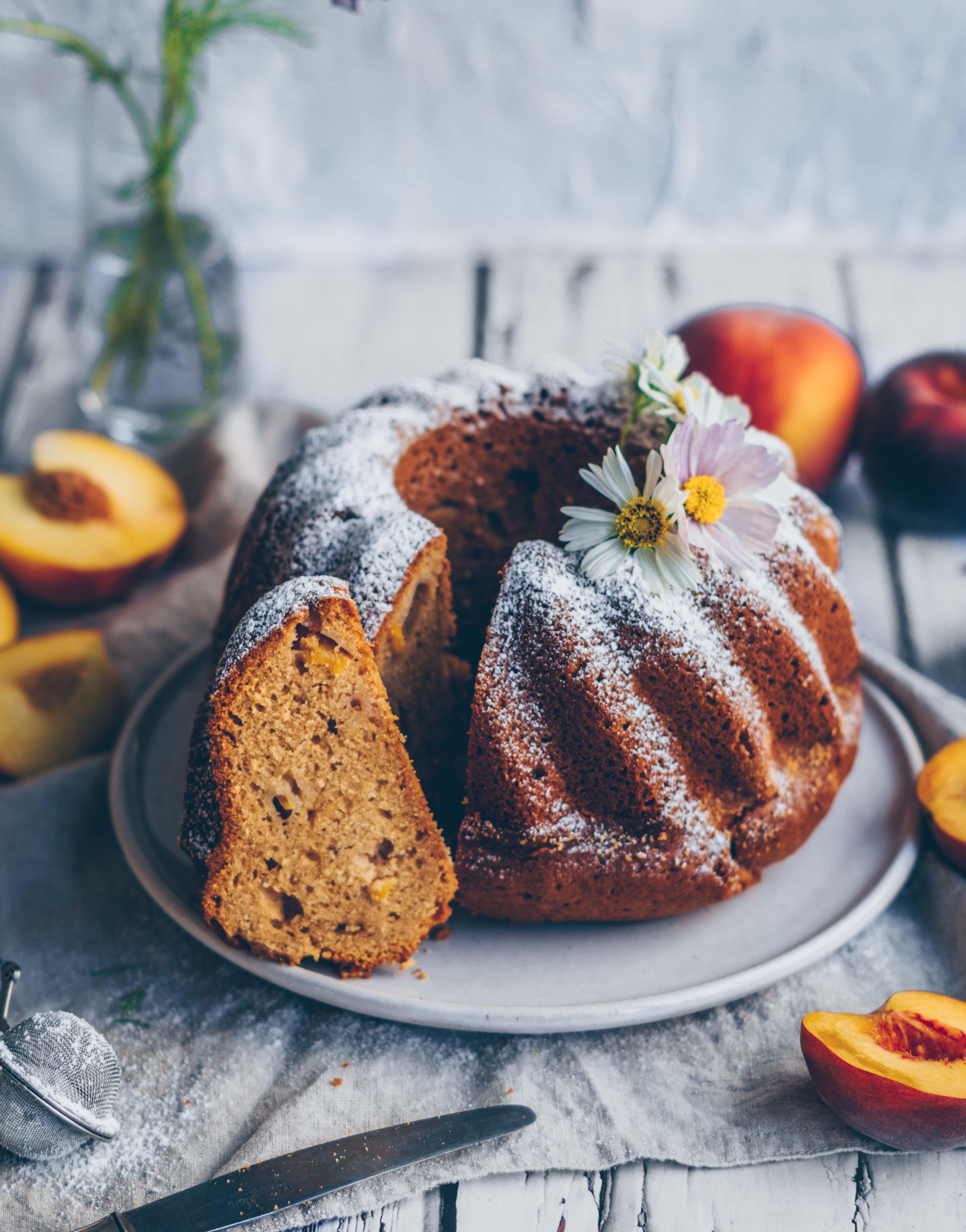 peach spice bundt cake