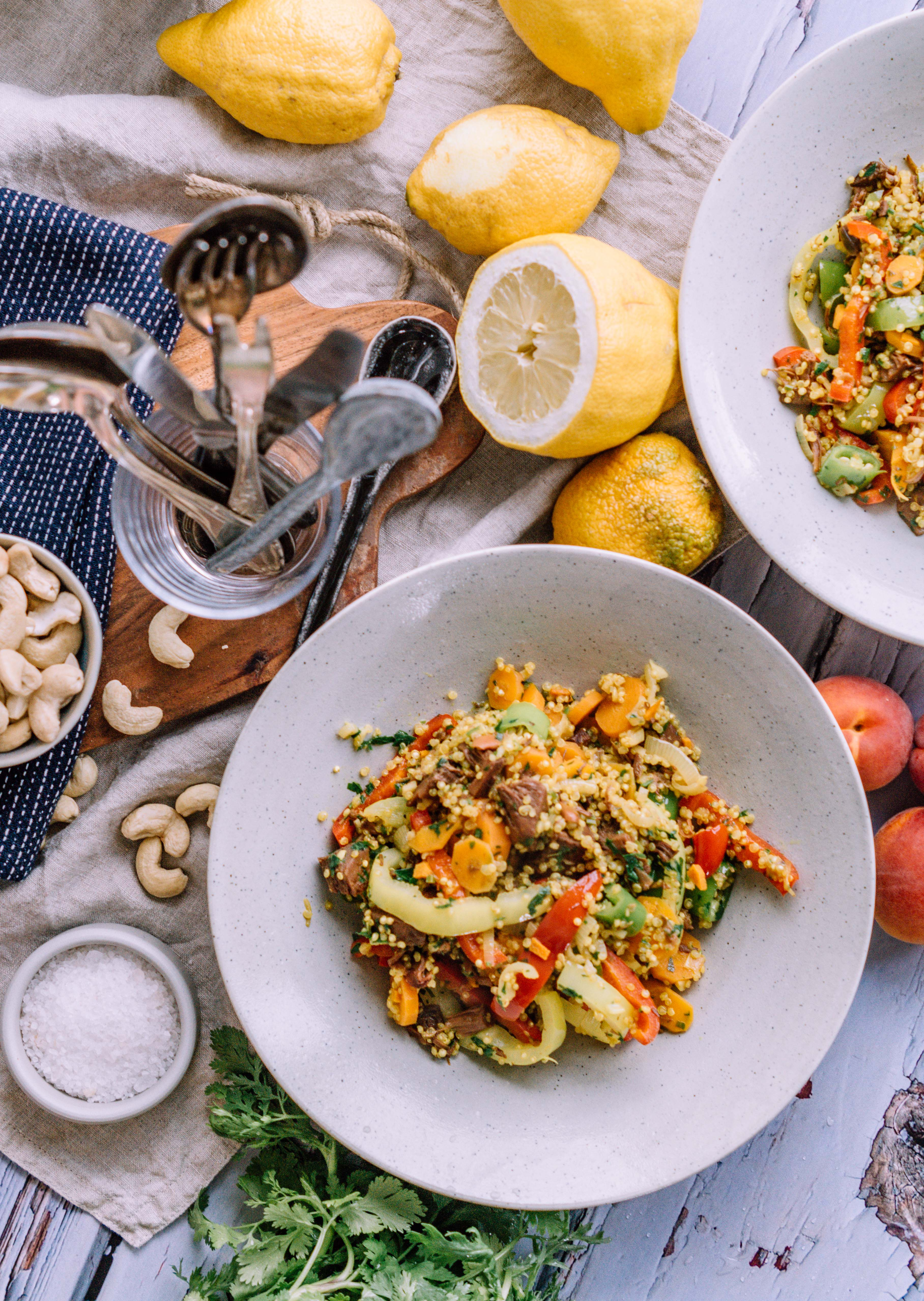 quinoa jackfruit curry
