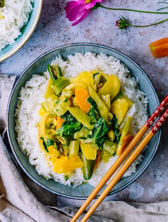 grünes Gemüse Curry