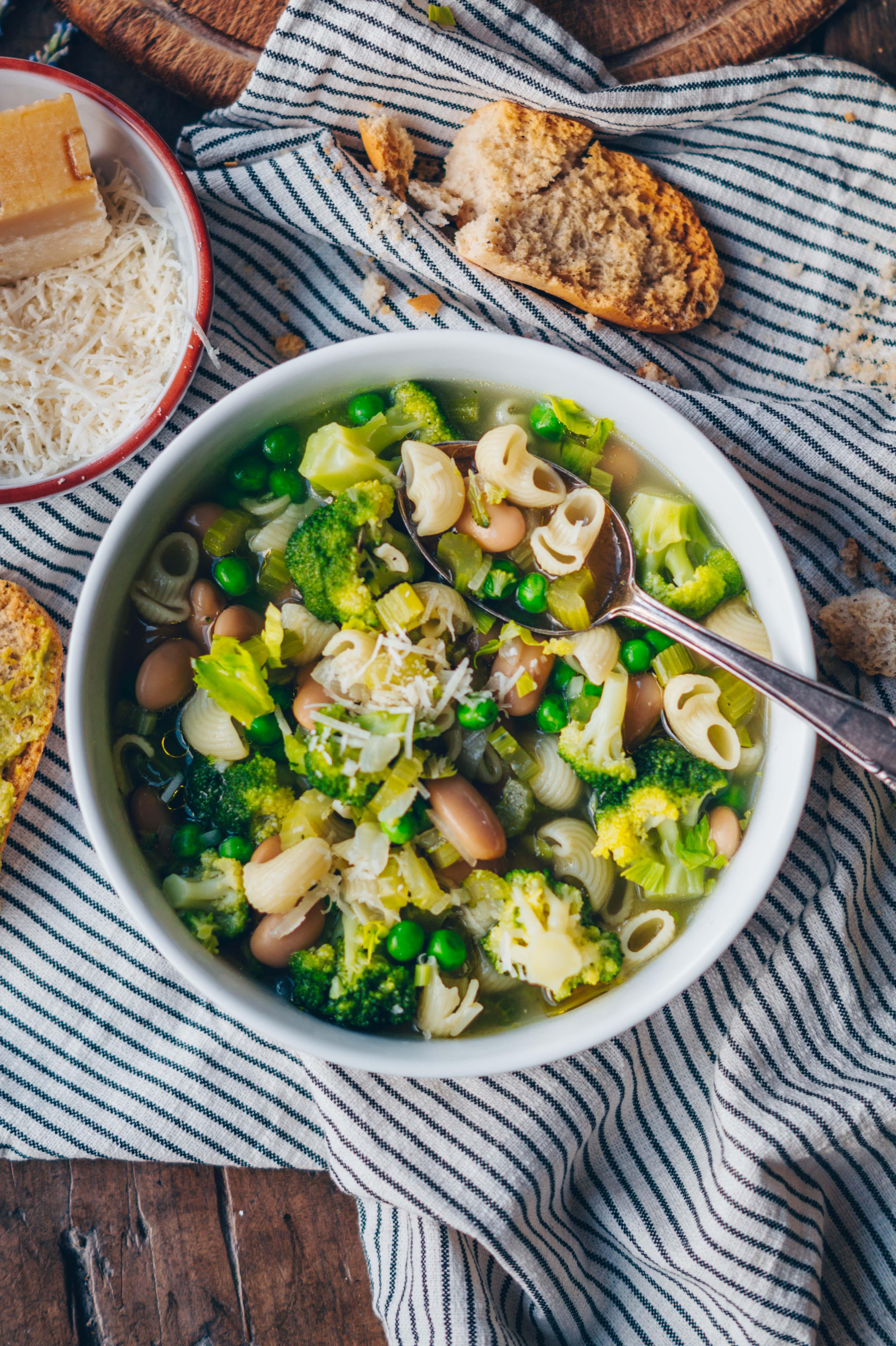 grüne minestrone
