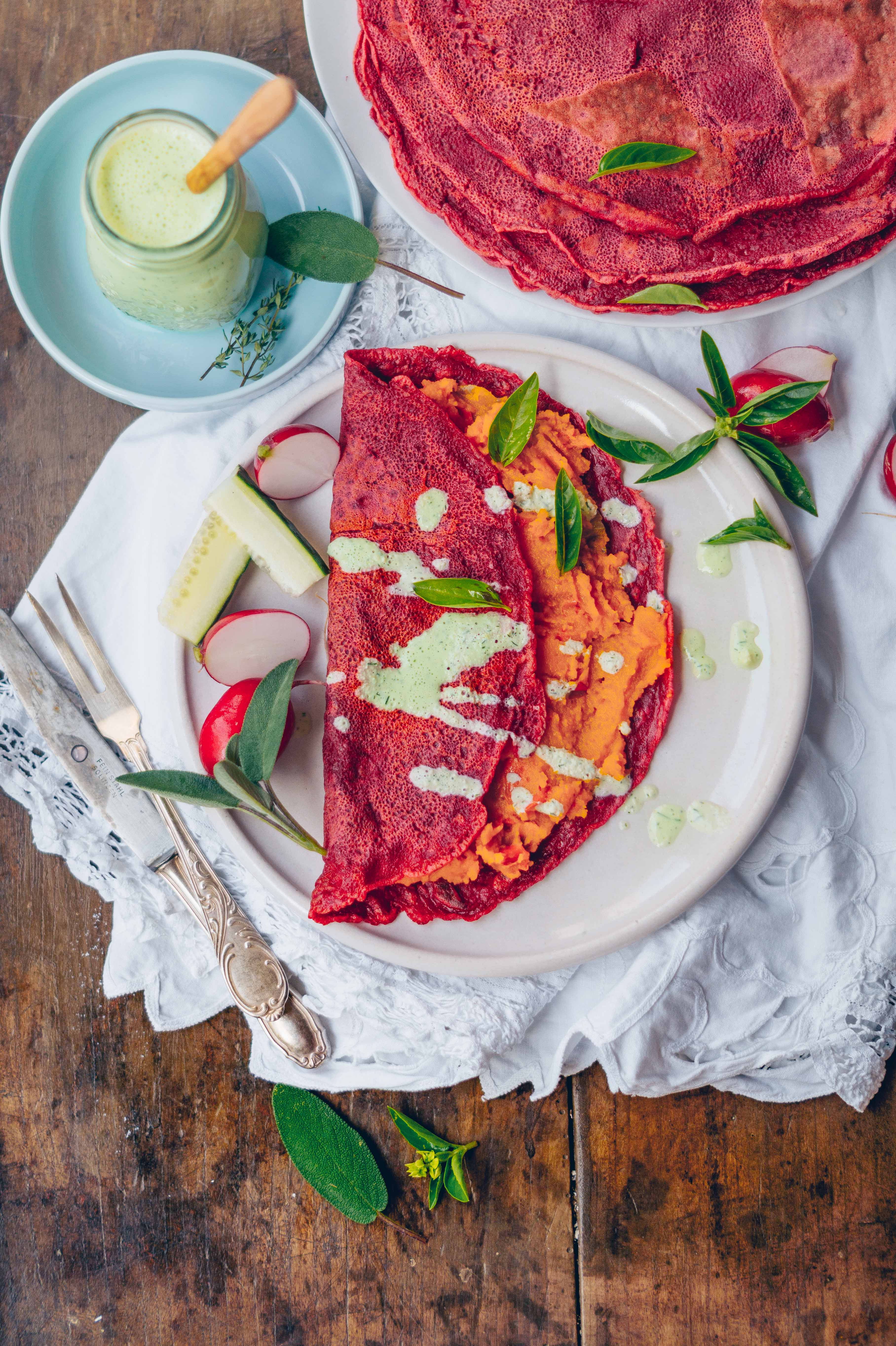 rote beets crepes