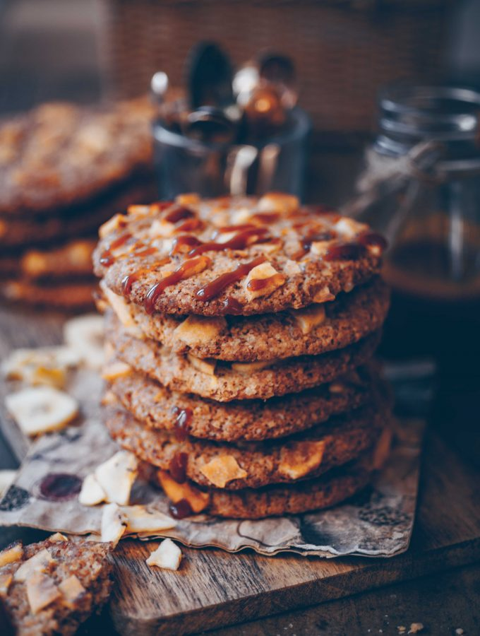 Vegan Banoffee Cookies