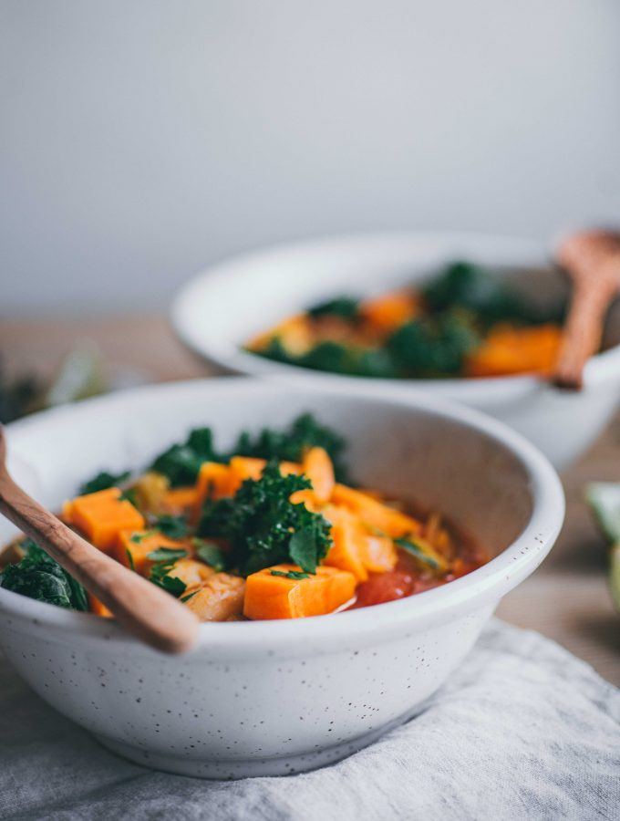 Winter Stew with Kale & Sweet potatoes