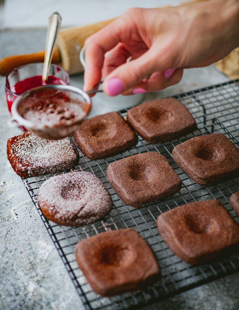 Schokoladen muskat Kekse