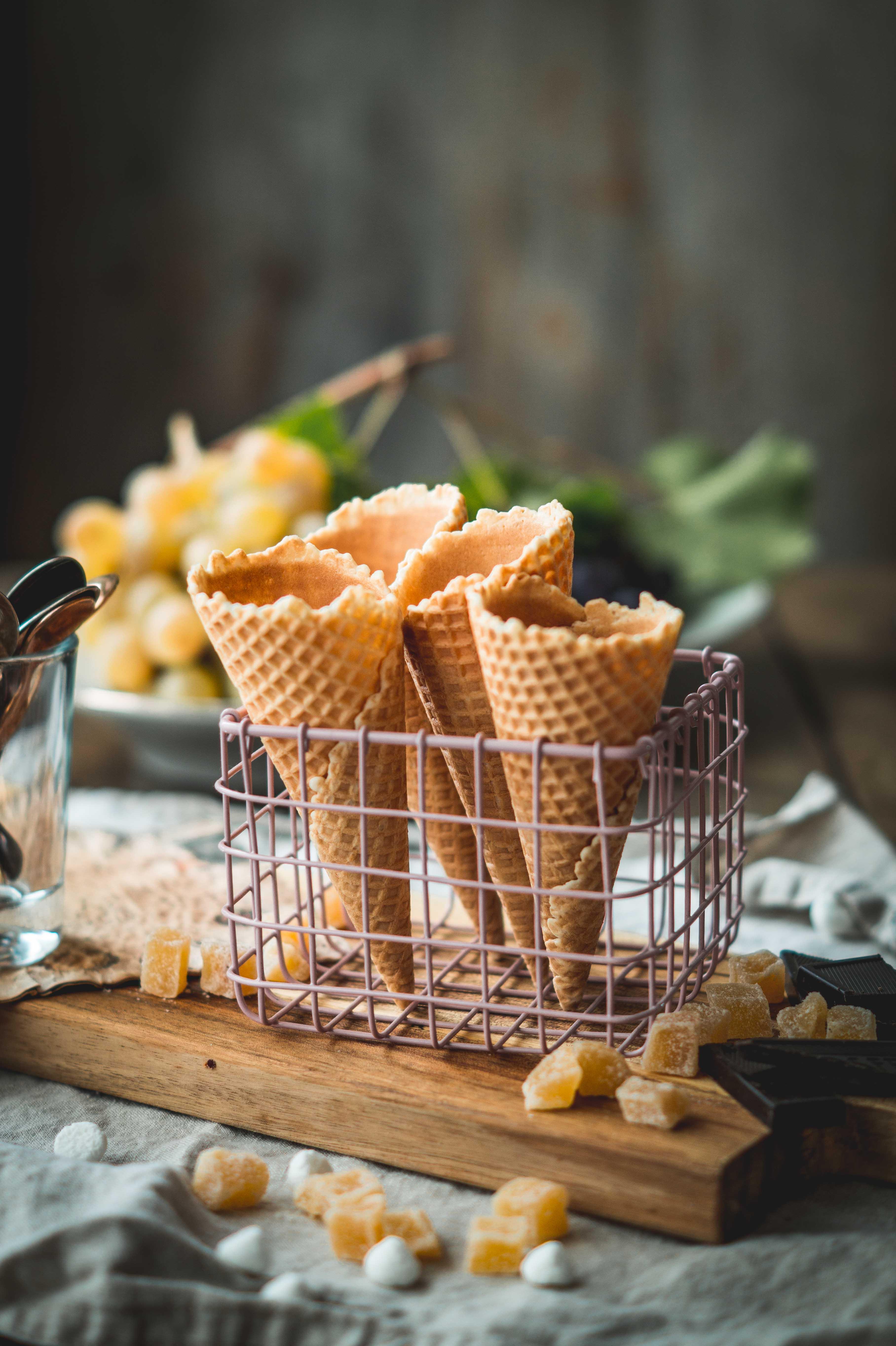 Chocolate Ginger Pine Nut Ice Cream