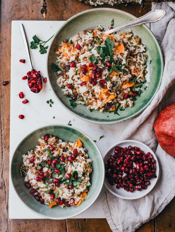 Reis-Linsen Salat