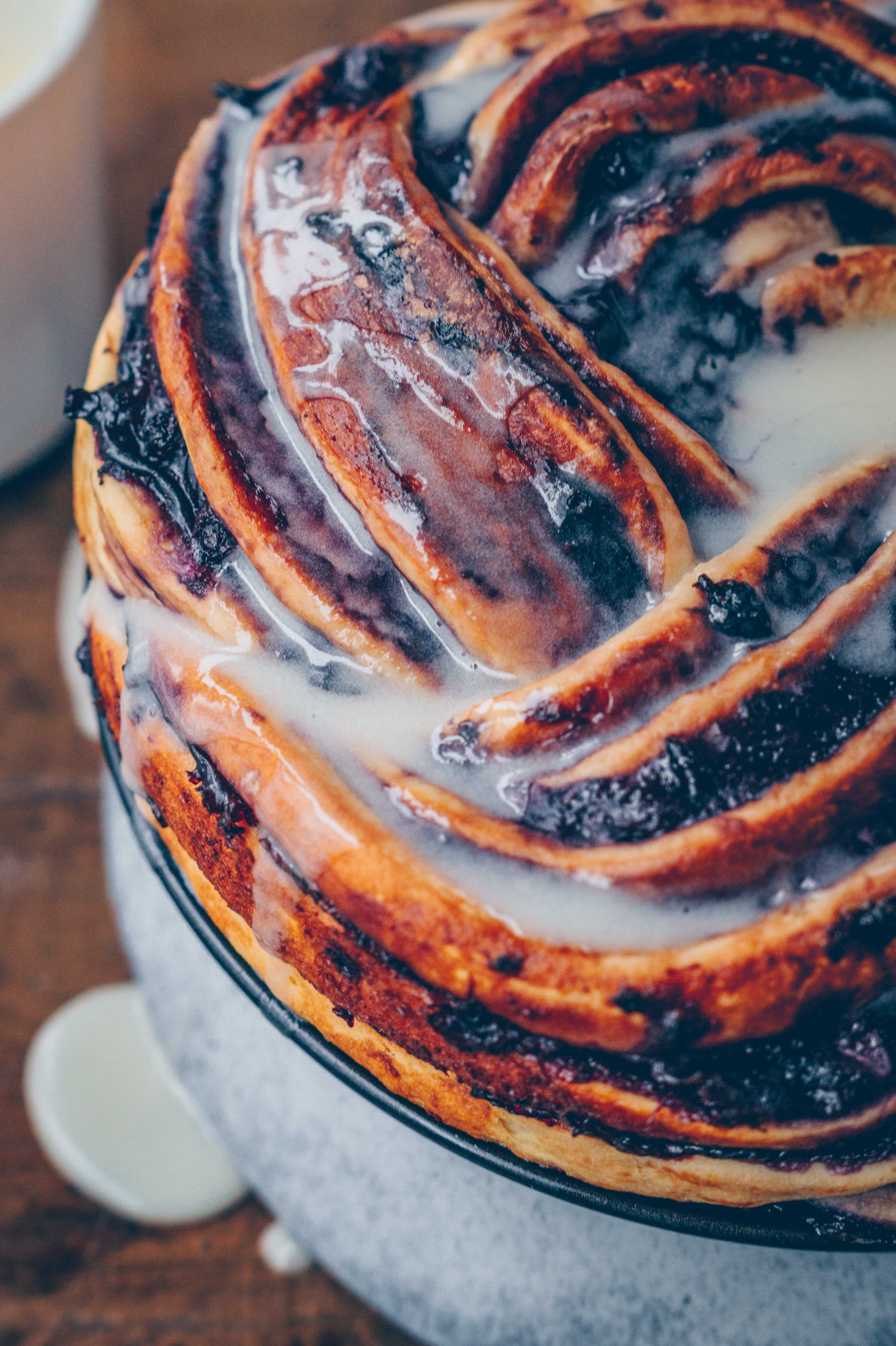 Blueberry Twist bread