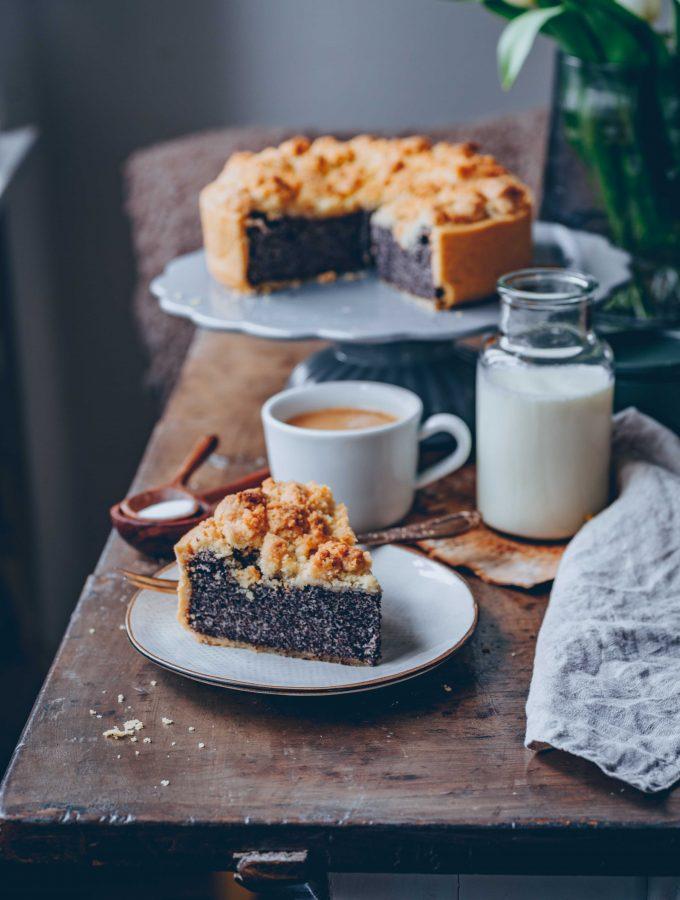 Veganer Mohn-Quarkkuchen