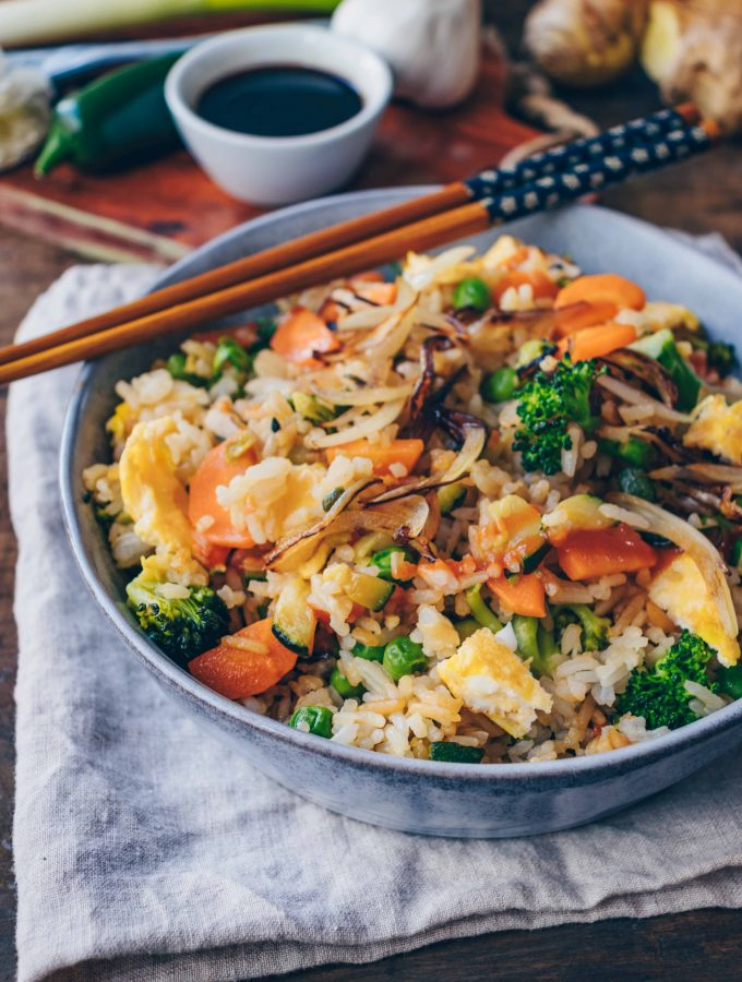 Easy Fried Rice with vegetables . 30 Minutes Recipe