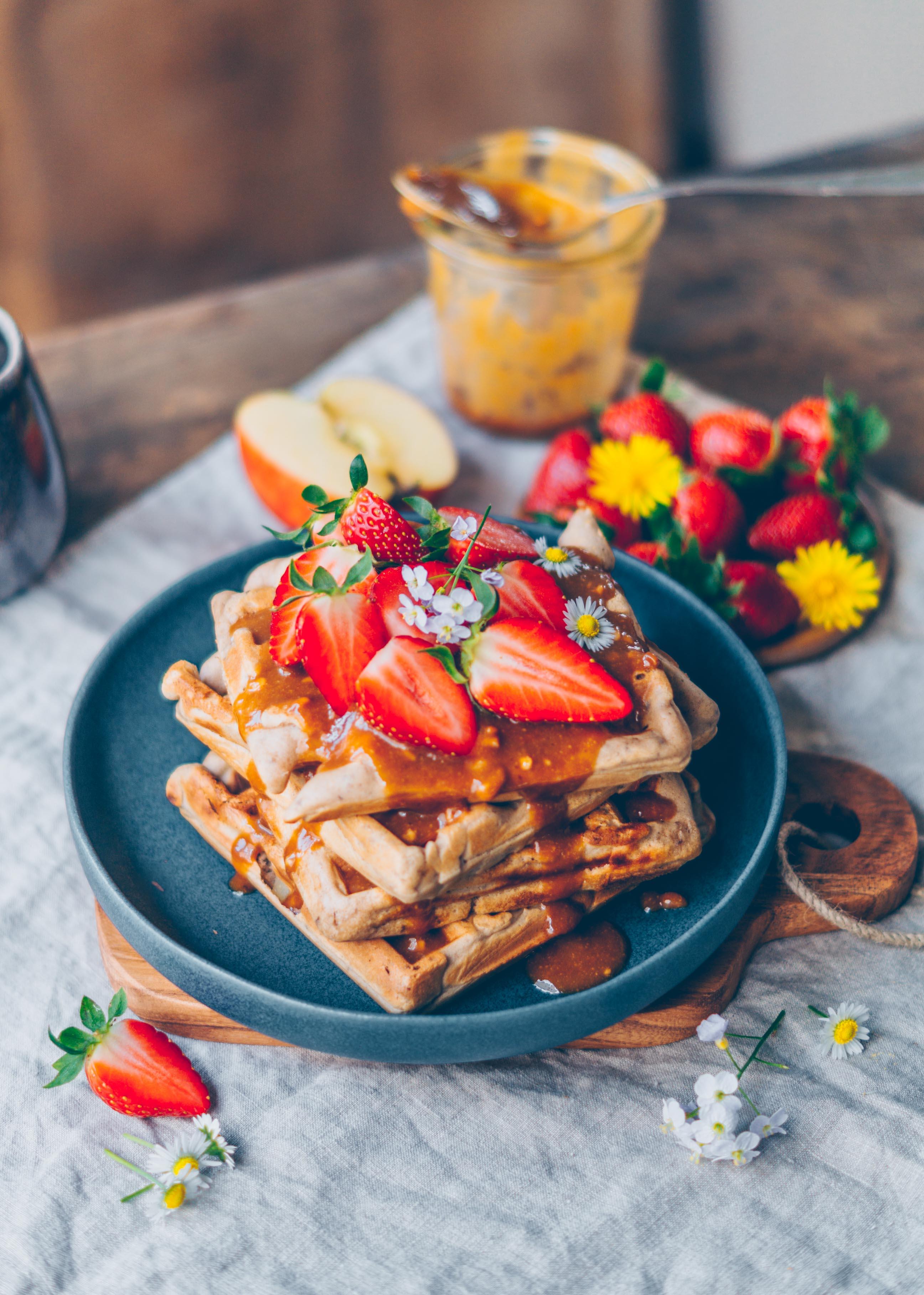 buckwheat apple waffles