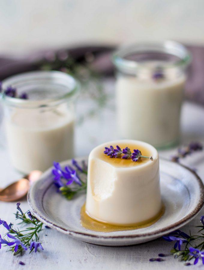 Lavender Panna Cotta | vegan and easy
