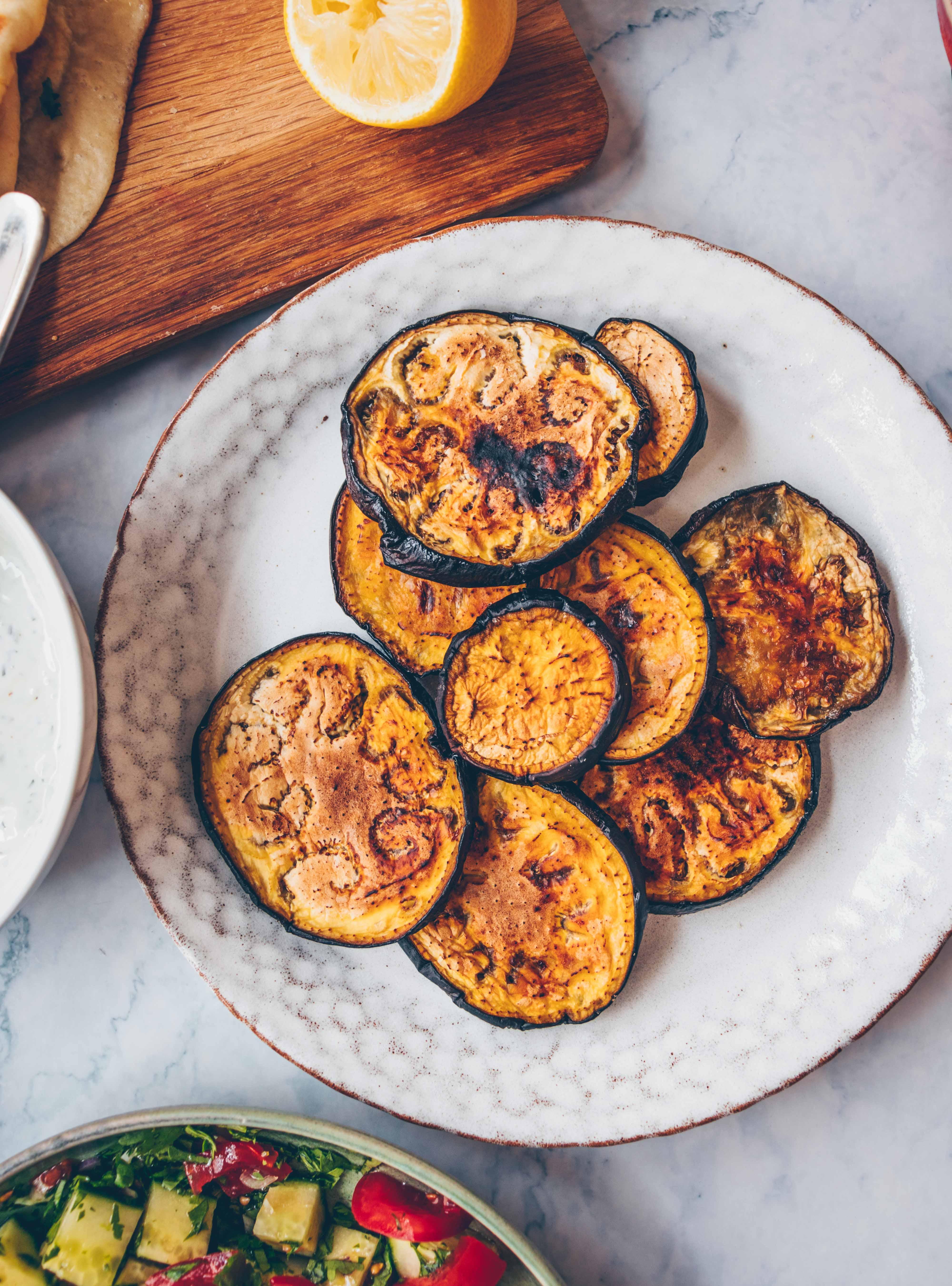 Auberginen-Pita mit Tsatsiki